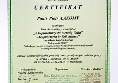 Certyfikat Piotr 07