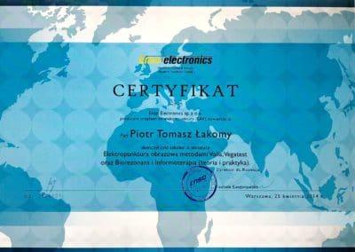 Certyfikat Piort Łakomy